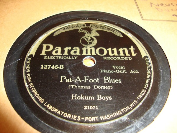 "The Hokum Boys, featuring Tampa Red and ""Georgia Tom"" Dorsey, recorded bawdy blues records for Paramount. From John Heneghan's collection. (Via John's Old Time Radio Show"