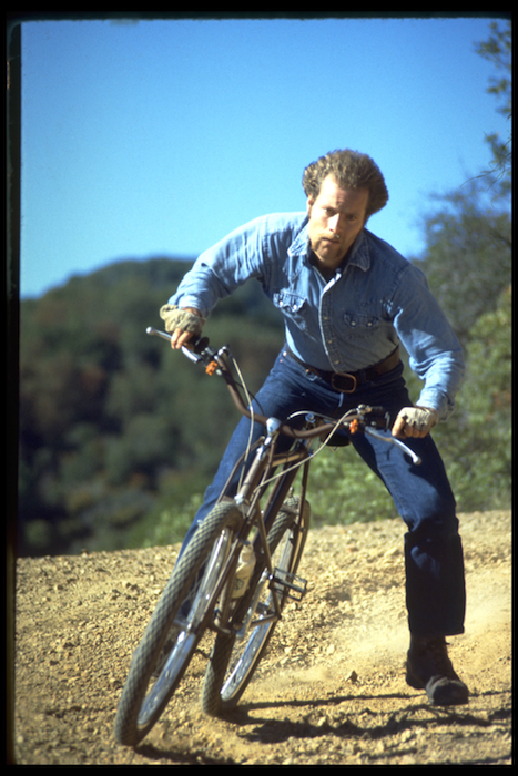 Joe Breeze riding Breezer #1 on Repack, 1977.