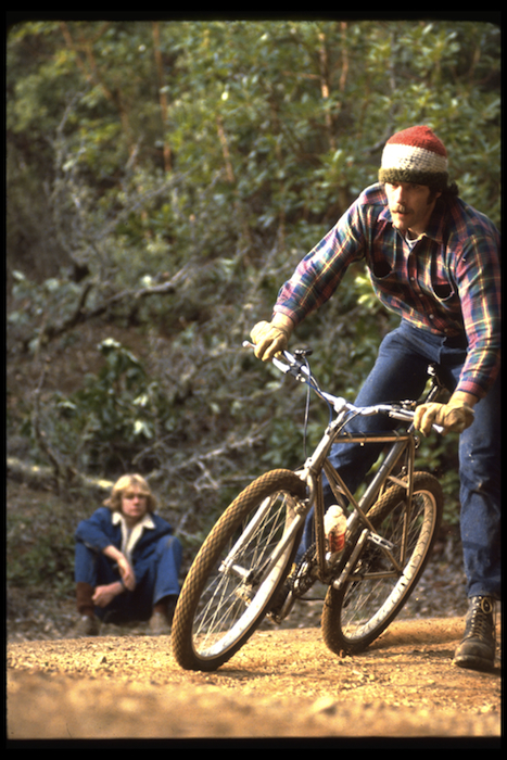 Above: Fred Wolf on a Breezer, photographed in 1979 at Camera Corner, where Wende Cragg took many of the best Repack shots. Top: Alan Bonds, who won the first Repack race, on his repainted Schwinn, circa 1978.