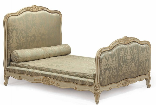 Huguette's 1990s replica of her mother's bed sold for $5,250, the most of any bed in the auction, perhaps because no one actually slept in it. (Via Christies.com)