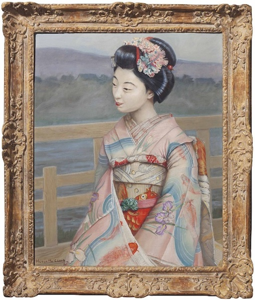 "A painting signed by Huguette Clark, entitled ""Portrait of a Maiko,"" sold for $6,250. (Via Christies.com)"
