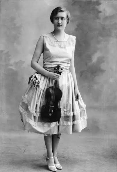 Huguette Clark was trained on the violin and, at one point, owned three instruments by Stradivari. (Estate of Huguette Clark from EmptyMansionsBook.com)
