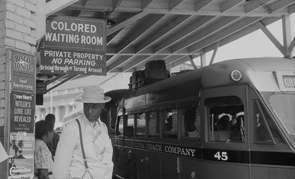 FSA photographer Jack Delano captured the signs of segregation at this bus station in Durham, North Carolina in 1940. Via the Library of Congress.