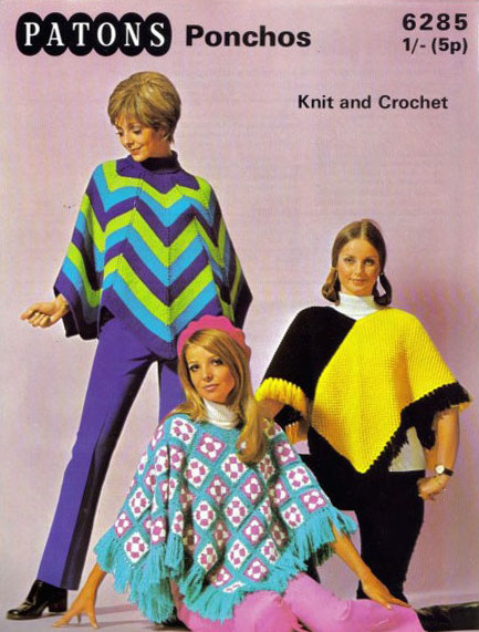 knit ponchos lead