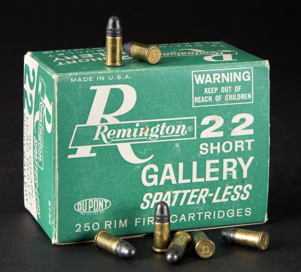 Box of Remington .22 Short Cartridges.
