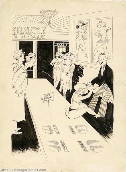 Mantique-edit_Carl Barks - Original Risque Comic Gag (undated)