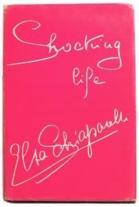 The cover of Schiaparelli's memoir, in her signature shocking pink.