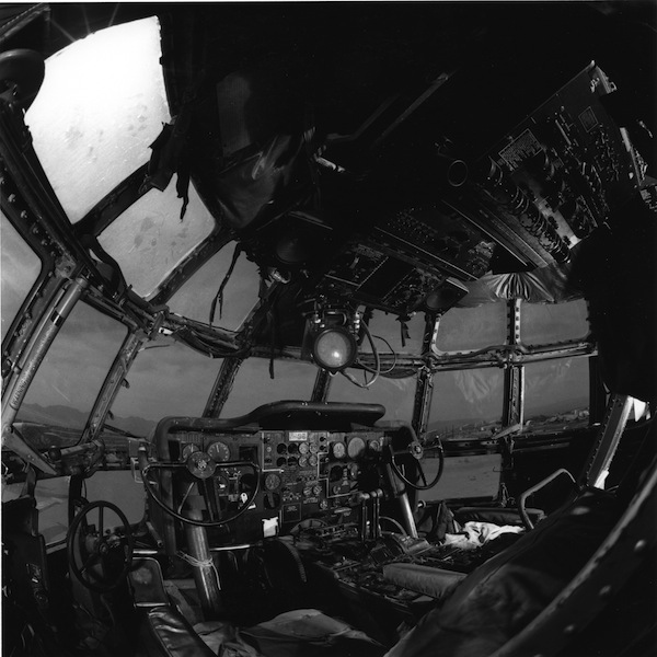 Boeing Stratofreighter cockpit, China Lake Naval Weapons Station, 1987.