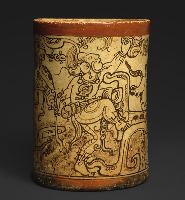 "This small ceramic vessel from 7th-8th century Guatemala depicts Chaak, god of rain. Via the <a href=""http://www.metmuseum.org/collection/the-collection-online/search/310364"">Metropolitan Museum of Art</a>"