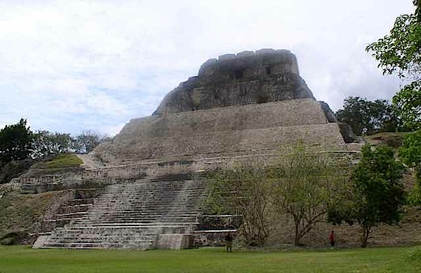 Like the Midnight Terror Cave, the temple of Xunantunich is located in the Cayo District of Belize. The temple was built when the cave was in active use.