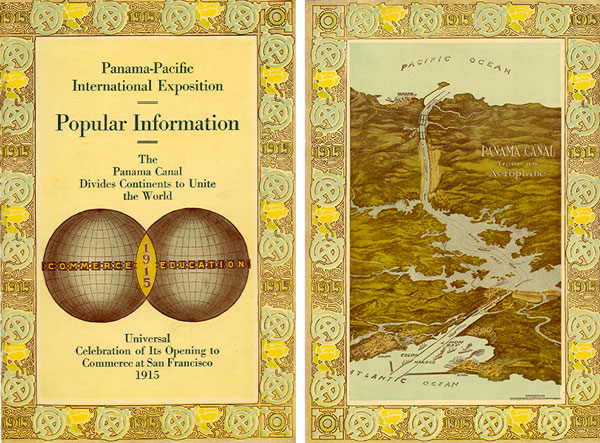 A PPIE brochure with facts about the Panama Canal. Courtesy the Seligman Family Foundation.