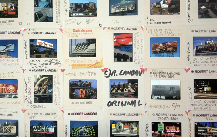 A sampling of color slides from Robert Landau's studio.