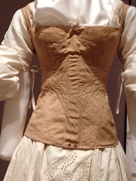"""An example of a corset with a pocket for a busk at the 2012 """"Underneath It All"""" exhibition at the Missouri History Museum in St. Louis. (Photo courtesy of Nancy Rosin)"""