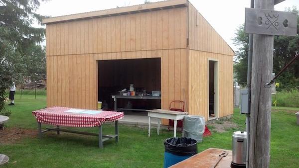The kitchen at Hobo Jungle Park in Britt, Iowa, got an update in 2014. (Via the Hobo Museum)