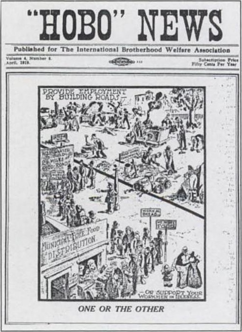 """A cover of """"Hobo News"""" from the late 1910s. (Via the National Archives, WikiCommons)"""