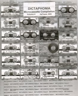 "738-The cover of ""Dictaphonia Microcassette Compilation, Volume Four,"" released by HalTapes in 2009. (Via Discogs)"