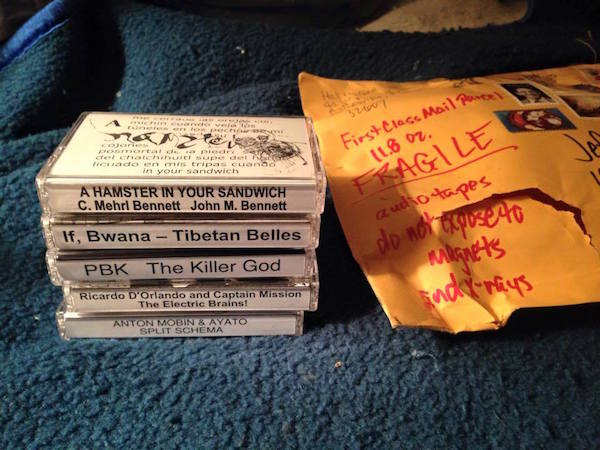 Jeff Chenault—also known as Jeff Central, one of the key figures of 1980s cassette culture—has ordered tapes from Hal McGee's latest cassette label, Kassette Kult Tapes, which McGee started in July 2014. (By Jeff Chenault, courtesy of Hal McGee)