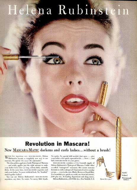 Mascara-Matic, introduced in 1958, was a major innovation. (Via Glamour Daze)