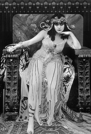 "Theda Bara in the 1917 silent film ""Cleopatra."""