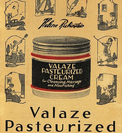 A 1920s ad for Valaze Pasteurized Cream shows women enjoying outdoor sports like golf and tennis. (Via olfaktoria.pl)