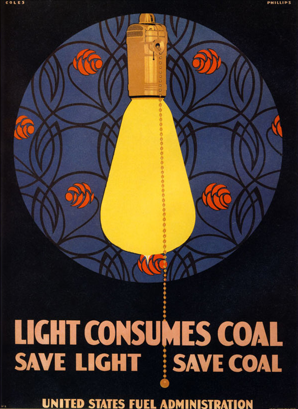 By World War I, the wastefulness of incandescent lighting was obvious.