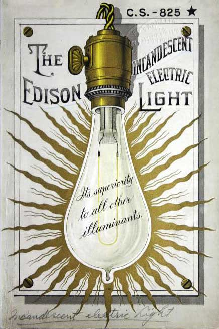 A boastful Edison catalog cover from 1887.