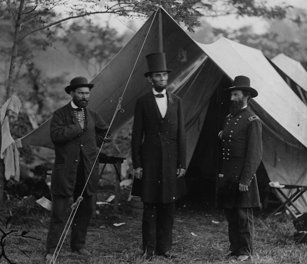Famous Union detective Allan Pinkerton and his men tailed and captured Rose O'Neal Greenhow. Here he is with President Abraham Lincoln (center) and Maj. Gen. John A. McClernand (right) at the Battle of Antietam, Maryland, September-October 1862. (Photo by Alexander Gardner, Library of Congress)