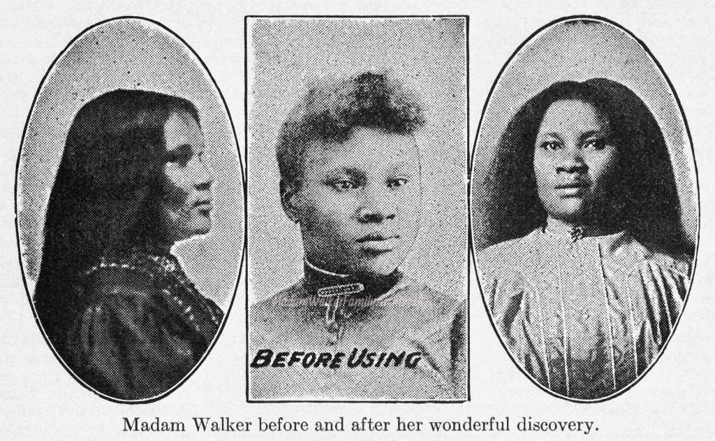 "Walker's early marketing used impressive before-and-after images to attract new customers. Image ©<a href=""http://www.madamcjwalker.com/"">Madam Walker Family Archives</a>/A'Lelia Bundles."