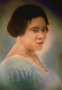 "A colorized portrait of Madam Walker, circa 1913. Image ©<a href=""http://www.madamcjwalker.com/"">Madam Walker Family Archives</a>/A'Lelia Bundles."