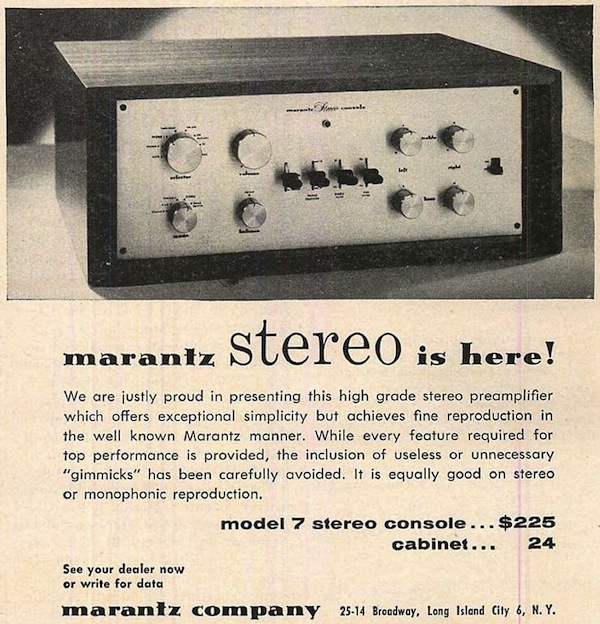 One of McIntosh's toughest competitors was Marantz, whose Model 7 preamp was reissued by the company and manufactured by VAC. Via Vintage Vacuum Audio