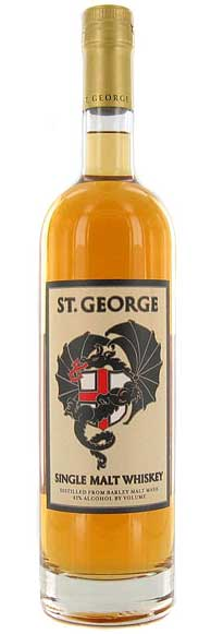 Bay Area-based St. George Spirits created this single malt whiskey in 1996 with a label designed by artist David Lance Goines.