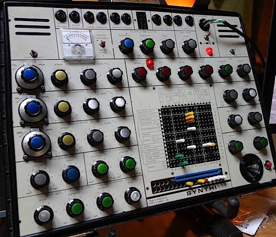 "This EMS Synthi AKS at the Vintage Synthesizer Museum is just like the one Pink Floyd used on ""Dark Side of the Moon."""