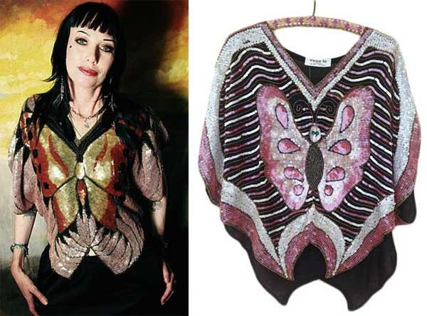 TwitchyLaMarr and anniesvintageattic have authentic Swee Lo butterfly sequin tops available at their Etsy stores.