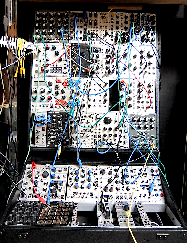 A modular Eurorack synthesizer at Vintage Synthesizer Museum.