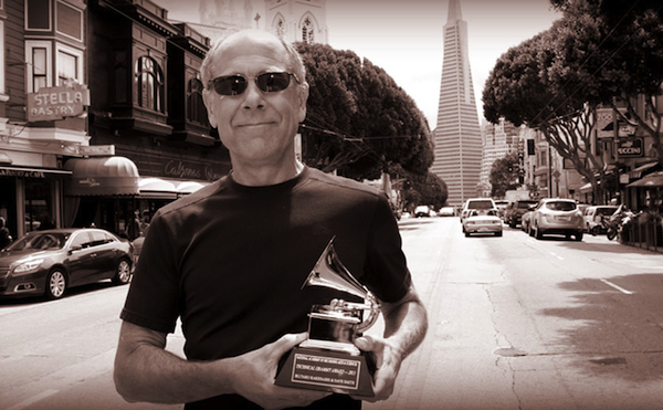 In 2013, Dave Smith, seen here near his company's San Francisco headquarters, was awarded a Grammy for developing MIDI with Ikutaro Kakehashi of Roland. Kakehashi won an award, too.
