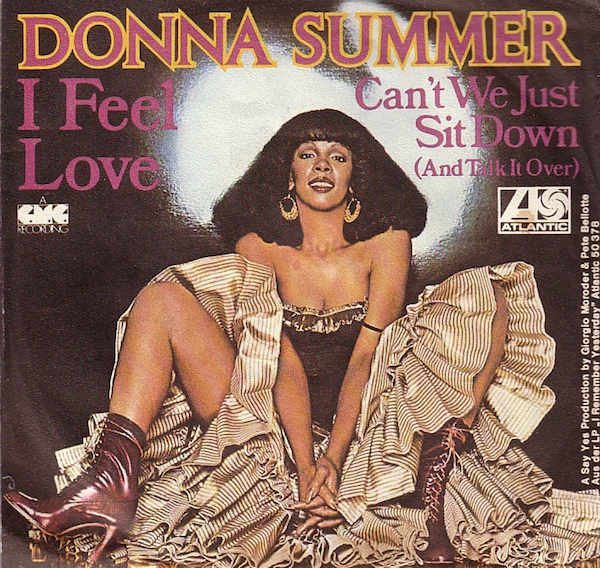 "Giorgio Moroder and Pete Bellotte used a Moog synthesizer to help make Donna Summer's ""I Feel Love"" a 1977 disco hit. Via Ultratop."