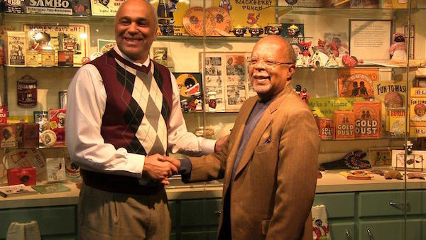 "Dr. David Pilgrim shakes hands with famed Harvard professor Dr. Henry Louis Gates, Jr., at the Jim Crow Museum. Gates visited the museum with a PBS film crew while working on his award-winning 2013 documentary series, ""The African Americans: Many Rivers to Cross."" Gates also wrote the foreward for Understanding Jim Crow. (Via the Jim Crow Museum Facebook page)"