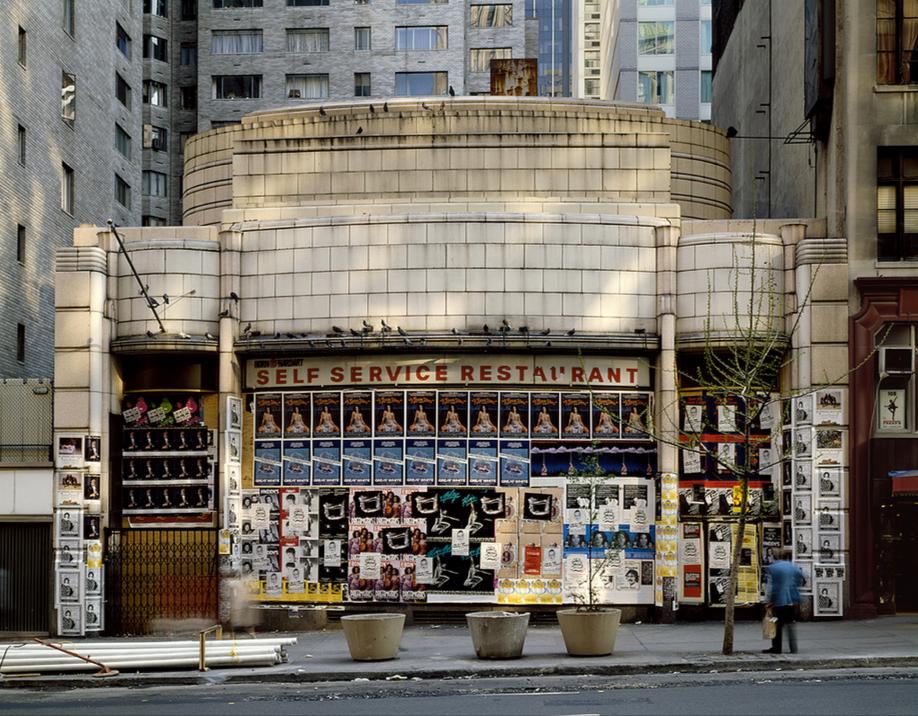 "Horn & Hardart's defunct 57th Street location in New York, as seen in the 1980s. Via <a href=""https://www.flickr.com/photos/35225219@N04/5358938706"">Carl Burton's flickr</a>."