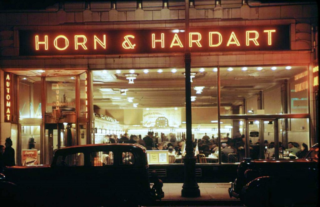 A lively nighttime view of a New York automat captured for Life Magazine in the 1930s.
