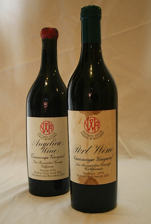 The last two bottles of Frances Dinkelspiel's stash of her great-great-grandfather's wine.