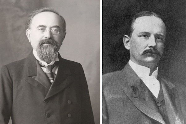 Two of California's most important wine figures at the end of the 19th century were Isaias Hellman (left) and Percy Morgan.