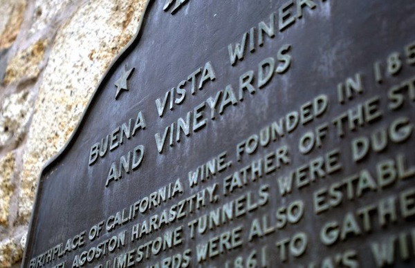 "Buena Vista Winery in Sonoma may be designated as State of California Landmark number 392, but it is not the ""birthplace of California wine."" (Via Buena Vista Winery)"