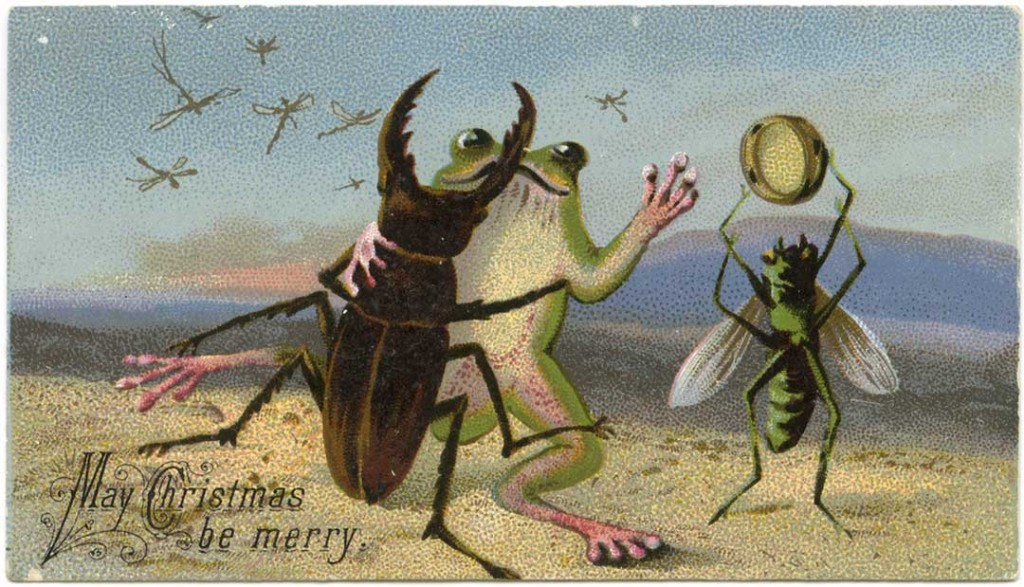 Victorian Holiday Card