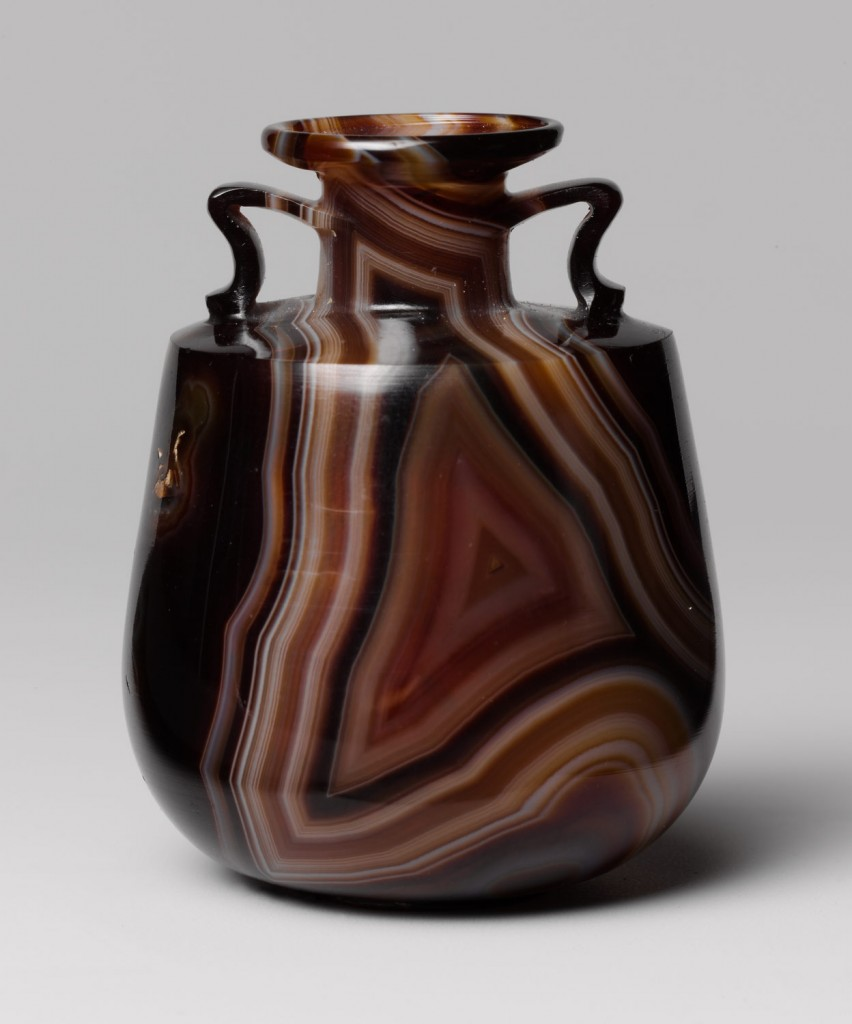 "A Roman perfume flask made from banded agate, circa late 1st century B.C.–early 1st century A.D. <a href=""http://www.metmuseum.org/toah/works-of-art/2001.253/"">Via the Met</a>."