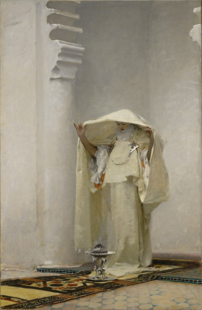 "John Singer Sargent painted the Moroccan-inspired ""Fumee d'Ambre Gris,"" or ""Smoke of Ambergris,"" in 1880, long after the substance had become popular in the West for its aromatic qualities. Via the <a href=""http://www.clarkart.edu/Art-Pieces/6145"">Clark</a>."