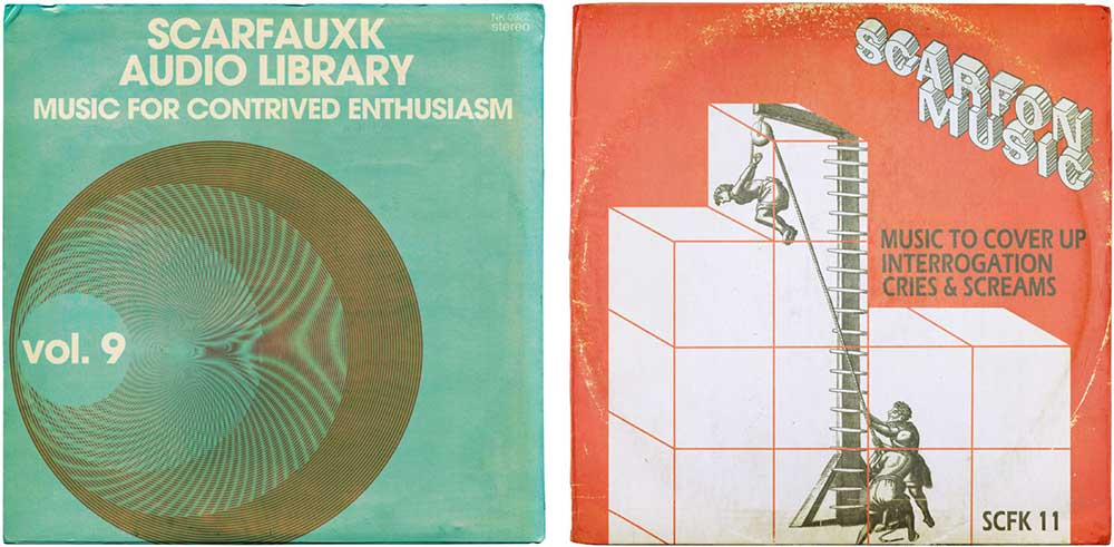 Two of the album covers Littler produced for Scarfolk.