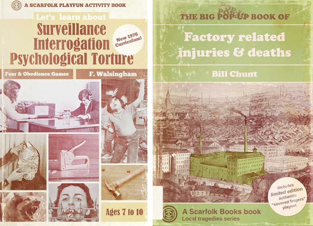 Two Scarfolk books aimed at children.