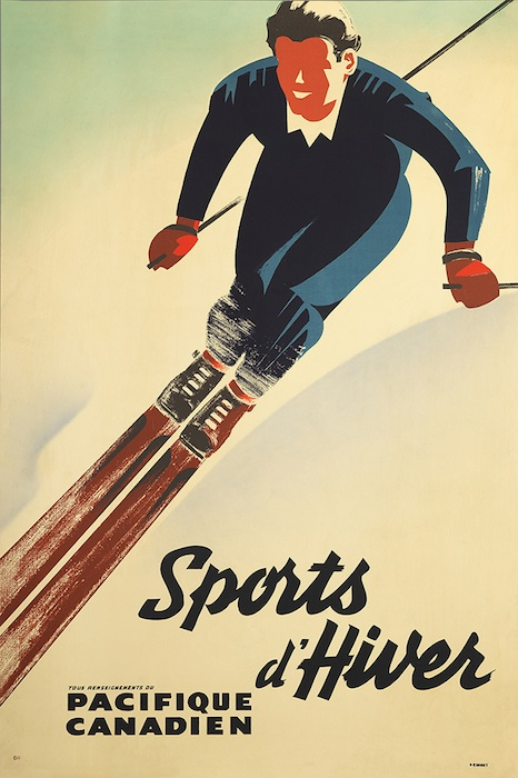 Peter Ewart's first poster for Canadian Pacific, 1940.