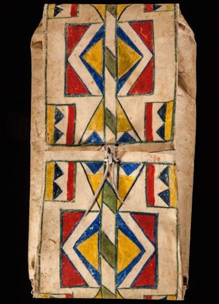 "An Umatilla envelope parfleche, 15.5"" x 29"", from the late 19th century. (Courtesy of John Molloy Gallery)"