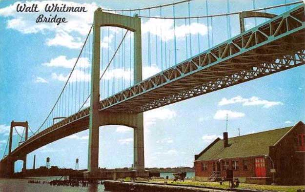 The Walt Whitman Bridge, which opened May 16, 1957, crosses the Delaware River to connect Camden, New Jersey, to Philadelphia, Pennsylvania. (Courtesy of Ed Centeno)